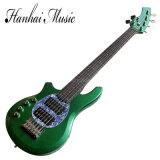 Hanhai Music / 6-String Green Bongo Left-Hand Electric Bass Guitar