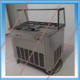 2 Pan Durable Fry Ice Cream Maker Machine