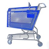 Supermarket Plastic Shopping Trolley Cart