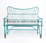 American Do Old, Wrought Iron Double Chair Double Chair Recreational Chair Metal Outdoor Park Bench Creative Cafe (M-X3678)