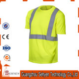 High Visibility Cheap Safety Reflective Tape Tshirt with Short Sleeve