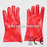 Red PVC Industrial Glove with Ce Certificate (5108-27)
