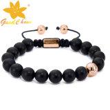 SMB-16120210 Black Mat Agate Stone Jewelry Wholesale