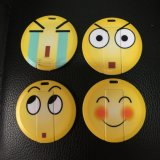 2-32GB Round Shape USB Memory Facial Expression USB Flash Memory Smile Plastic Card USB Flash Drive