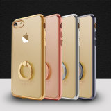 New Arrival! Electroplating TPU Cell Phone Case with Ring Holder for iPhone 7/ 7 Plus