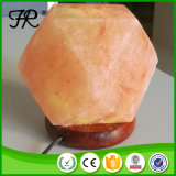 Himalayan Glow Hand Carved Rock Salt Lamp with Wooden Base