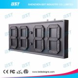 Red Color Outdoor Jumbo LED Clock Sign for Stadium/Edifice