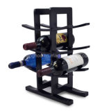 12-Bottle Dark Espresso Bamboo Storage Display Wine Rack Wine Holder