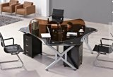 Glass Top Exeuctive Office Table Workstation Office Furniture (HX-GL046)