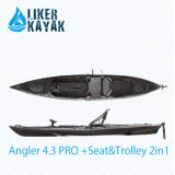 Fishing Plastic Boats 4.3m Length for Beginner and Fisher Lover