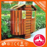 Hot Sale Garbage Bin Wooden Trash Can Waste Bin in Park