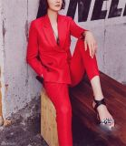 Made to Measure Fashion Stylish Ladies Red Suit L51626