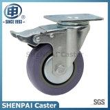 "5"" Grey Polythene Swivel Locking Caster Wheel"