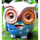 Chinese Porcelain The Owl Candle Pot Cp-04