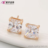 New Coming Elegant Square CZ Crystal Rose Gold-Plated Fashion Imitation Jewelry Studs Earring -91062