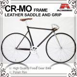700c Cr-Mo Frame Leather Saddle Fixed Gear Bike (KB-700C14)
