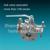 Flanged Type Ss316 Material 3-Way Ball Valve