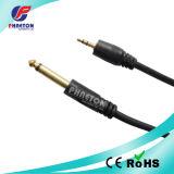 AV Cable 3.5mm Stereo Plug to 6.35mm Mono Plug