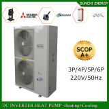 Monobloc Auto-Defrost Winter Floor/Radiator Heating Room +Dhw 55c 19kw/35kw/70kw R407c Air Source Best Evi Heatpump Water Heater