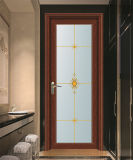 High Quality Nice and Strong Frosted Glass Aluminum Toilet Door