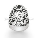 925 Silver Jewelry Antique Looking Jewellery Ring (KR3009)