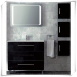 Floor-Mounted Bathroom Storage Cabinet with LED Mirror