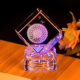 3D Laser Crystal Cube Glass Craft for Birthday Wedding Gifts (ks25218)