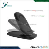Newest Fashionable Tri-Coils Fast Wireless Charger Is Folding Bracket Housing Ce. RoHS, FCC Qi Standard