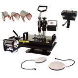 Multifuctional 8 in 1 Sublimation Combo Heat Press Machine