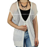 Women Knitted V Neck Short Sleeve Fashion Clothes (11SS-006)