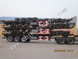 China 2 Axle 20FT 40FT Skeleton Semi Trailer for Sale