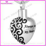 """""""Always in My Heart"""" Heart Cremation Jewelry Pendant Necklace Memorial Urn Necklace Jewelry (IJD2472)"""