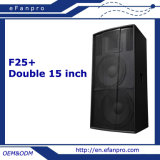 Double 15′′ Professional Powered Floor 2-Way Stage Monitor Speaker System (F25+)