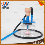1 Set Red Blue Black Gold Color Hookah Water Pipe Glass Smoking Pipe Vaporizer Shisha Hookah