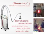 Five in One Body Contouring Salon Beauty Appliance Syneron Velashape III Velashape Vacuum Roller RF Kuma Shape Cellulite Removal Machine Price