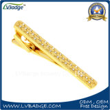 High Quality Gold Plated Diamond Metal Tie Clip