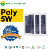 Small 25 Years Warranty 6V 12V 5W 5 Watt Solar Panel