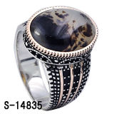 Fashion Silver Jewelry Man Ring with Natural Stone