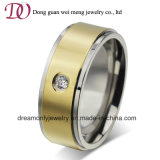 Gold Plated Jewellery CZ Zircon Stone Steel Finger Ring