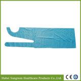 Disposable Plastic PE Apron in Light Blue Color
