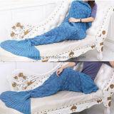 Adult Thick Mermaid Tail Blanket Acrylic Knitted Mermaid Blanket