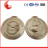 Factory Custom Gold Plating with Lanyard 50.8mm Zinc Alloy Metal