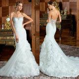 Mermaid Formal Gowns Ruffled Organza Wedding Bridal Dresses Z2085