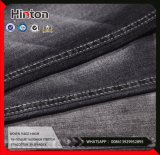 Black 10s High Stretch 97%Cotton 3%Spandex Twill Slub Denim Fabric