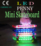 Kid′s LED Light Flash Clear Deck Skate Board Skateboard