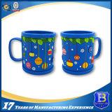 Blue Acrylic Mug with Rubberized PVC Tape for Promotion (Ele-PVC018)