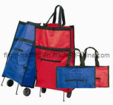 Portable Foldable Wheels Shopping Bag Suit for Promotioal