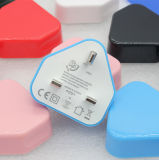 Customized Colors UK Plug Wall Mount 5V 2A USB Charger