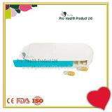 7 Compartments Plastic Retangle Shape Side Slide Pill Case