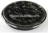 Round Floral Printed Top Grade Disposable Plastic Sushi Tray (S63R)